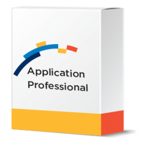 financial software systems software box mockup with Application Professional software