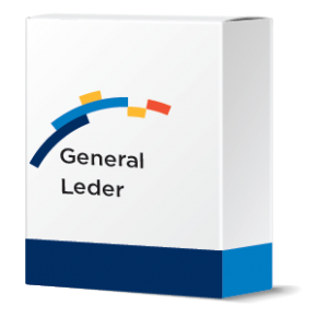 financial software systems software box mockup with General Ledger software