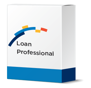 financial software systems software box mockup with Loan Professional software